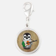 Baby Penguin Playing Irish Flag Guitar Charms