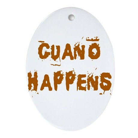Guano Happens Oval Ornament
