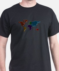 Bubble World Map T-Shirt