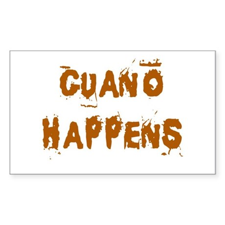 Guano Happens Rectangle Sticker