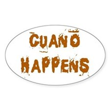 Guano Happens Oval Decal