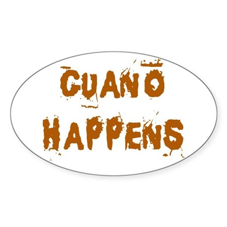 Guano Happens Oval Sticker