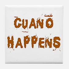 Guano Happens Tile Coaster