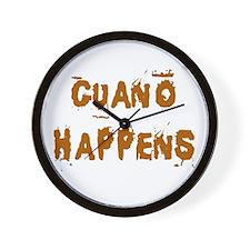 Guano Happens Wall Clock