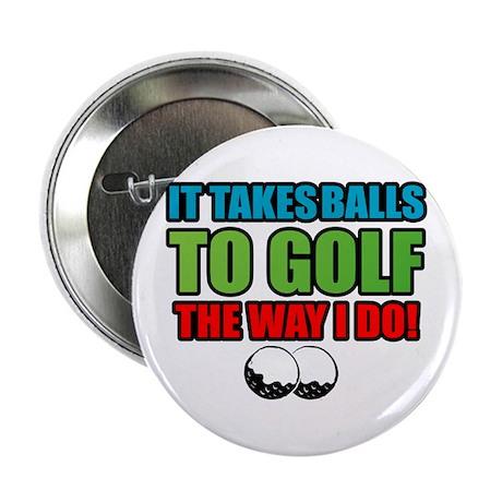 """Golf Balls 2.25"""" Button"""