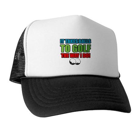 Golf Balls Trucker Hat