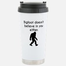 Unique Bigfoot humor Travel Mug