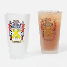 Hannah Coat of Arms - Family Crest Drinking Glass