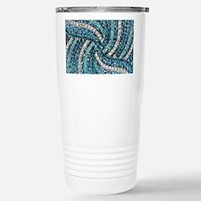 bohemian crystal teal t Stainless Steel Travel Mug