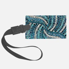 bohemian crystal teal turquoise Luggage Tag