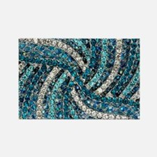 bohemian crystal teal turquoise Magnets