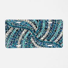 bohemian crystal teal turqu Aluminum License Plate