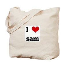 I Love sam Tote Bag