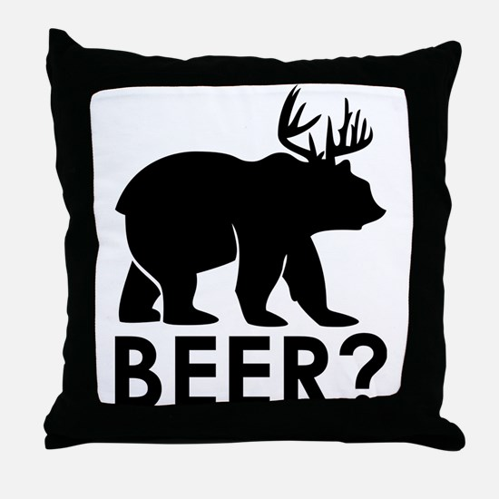 Funny Animal humor Throw Pillow