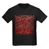 Sparkling red glitter Kids T-shirts (Dark)