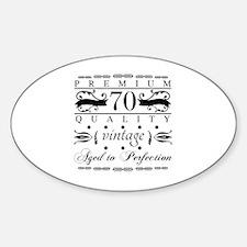 Funny Grandfather%27s 70th birthday Sticker (Oval)