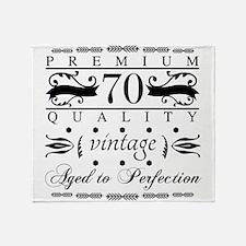 Premium 70th Birthday Throw Blanket