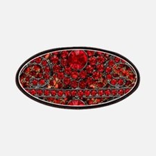 bohemian gothic red rhinestone Patch