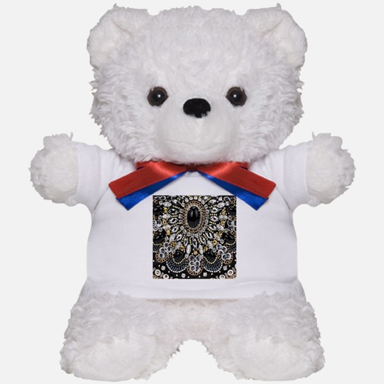 rhinestone art deco gatsby Teddy Bear