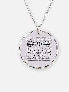 Funny 80 birthday men Necklace