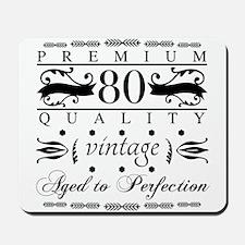 Premium 80th Birthday Mousepad
