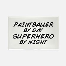 Paintball Superhero Rectangle Magnet