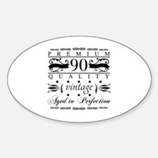 Funny 90 aged to perfection Decal
