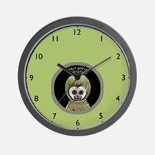 space monkey lime Wall Clock
