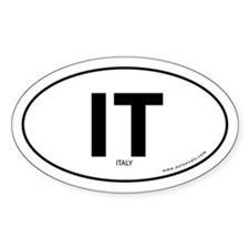 Italy country bumper sticker -White (Oval)