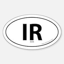 Iran country bumper sticker -Black (Oval)