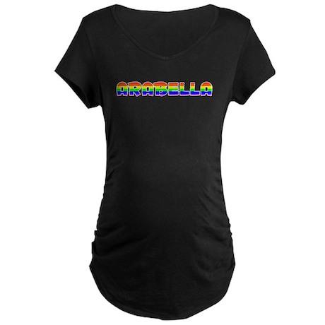 Arabella Gay Pride (#003) Maternity Dark T-Shirt
