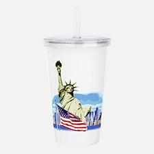 Lady Liberty Acrylic Double-wall Tumbler