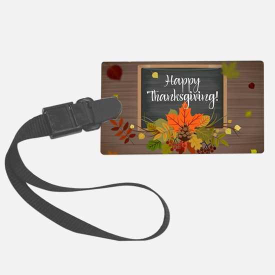 Cute Happy thanksgiving Luggage Tag