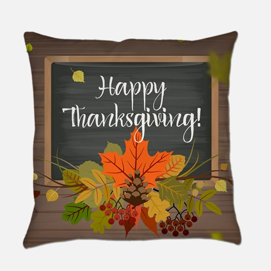 Happy Thanksgiving Everyday Pillow