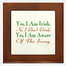Ironic Sober Irish Framed Tile