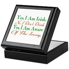 Ironic Sober Irish Keepsake Box