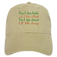 Ironic Sober Irish Baseball Baseball Cap