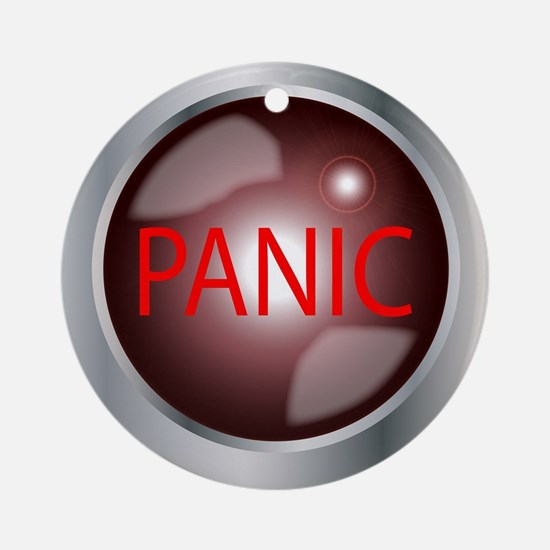 Panic Button Round Ornament
