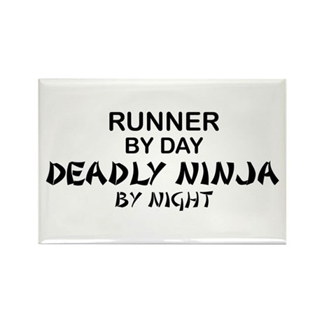 Runner Deadly Ninja Rectangle Magnet