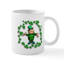 Leprechaun with Shamrocks Mug