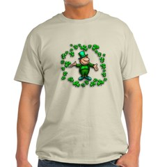 Leprechaun with Shamrocks T-Shirt