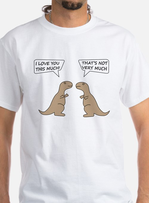 Dinosaur i love you this much t shirts shirts tees for How much is a custom t shirt