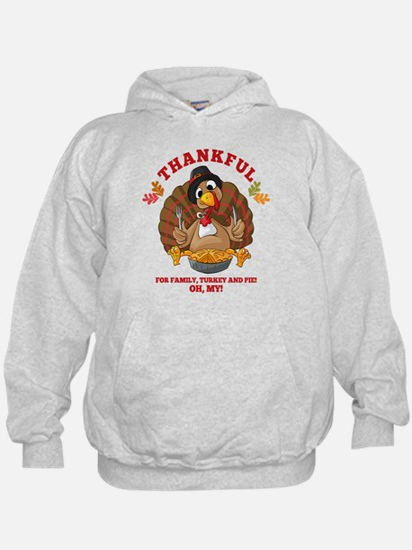 Thankful Family Turkey Pie Hoodie