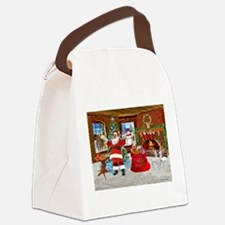 Merry Christmas From Santa Canvas Lunch Bag