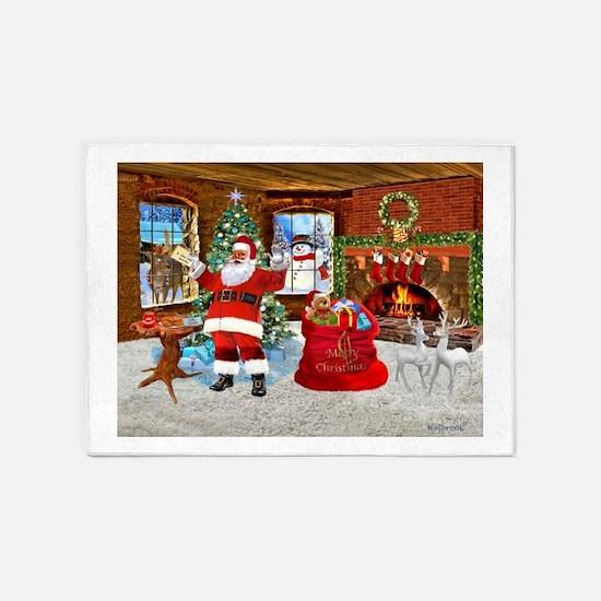 Merry Christmas From Santa 5'x7'Area Rug