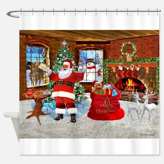 Merry Christmas From Santa Shower Curtain
