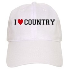 I Love Country Baseball Cap