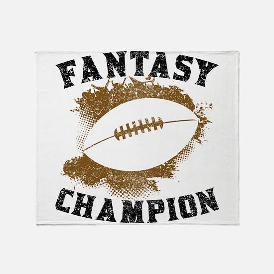 Fantasy Football Champion Throw Blanket