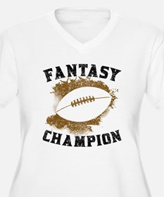 Fantasy Football Champion Plus Size T-Shirt