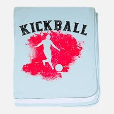 Kickball baby blanket